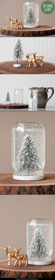 DIY DECOR AND CRAFTS: DIY SNOW GLOBES