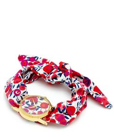 good idea...i have a watch face I could use this with.  Flowers of Liberty Wiltshire Liberty Print Knot Watch