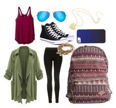 """""""Chill Pill"""" by dsarayu on Polyvore featuring Topshop, Converse, prAna, Billabong, Ray-Ban and Lizzy James"""