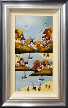 On The Coast by Rozanne Bell. Available from Artworx Gallery, Shropshire, UK. www.artworx.co.uk