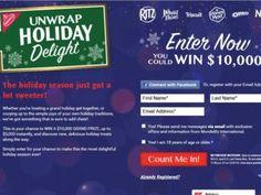 Nabisco Unwrap Holiday Delight Sweepstakes