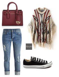 """""""Untitled #128"""" by mollyd284 on Polyvore featuring Relaxfeel, Converse, Michael Kors, women's clothing, women, female, woman, misses and juniors"""