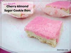 Cherry Almond Sugar Cookie Bars
