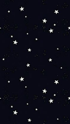 Night sky moon stars