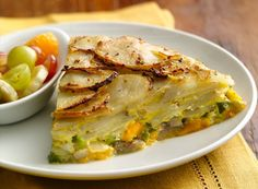 Potato Crusted Frittata - new take on a frittata is 'Eggs-cellent' and uses Betty Crocker® Potatoes to create a delicious crispy crust. Brunch Dishes, Breakfast Dishes, Breakfast Time, Brunch Recipes, Breakfast Recipes, Brunch Ideas, Breakfast Ideas, Yummy Recipes, Dinner Ideas