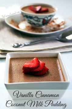 Vanilla Cinnamon Coconut Milk Pudding (autoimmune paleo, dairy-free) TheCuriousCoconut.com