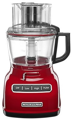 KitchenAid KFP0933ER 9Cup Food Processor with Exact Slice System  Empire Red *** Click on the image for additional details.Note:It is affiliate link to Amazon.