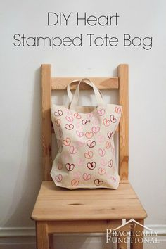 Stamped Heart Tote B