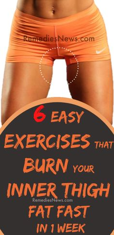 Do yo want to lose inner thigh fat fast in less than 2 weeks? Try these 6 easy exercises that will burn your inner thigh fat fast in 1 week at home. Health And Fitness Articles, Health And Wellness, Women's Health, Burn Thigh Fat, Inner Thigh Gaps, Detox To Lose Weight, Thinner Thighs, Flat Belly Workout, Workout Body