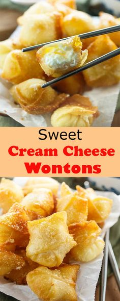 Sweet Cream Cheese Wontons - New Ideas Wonton Appetizers, Wonton Recipes, Best Appetizers, Easy Family Meals, Meals For Two, Easy Meals, Crunchwrap Supreme, Cream Cheese Wontons, Sweet Cream Cheese Rangoon Recipe