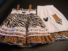 Cutest ever Disney Animal Kingdom Outfit  1 3T by pigtailsnmudpies, $42.00