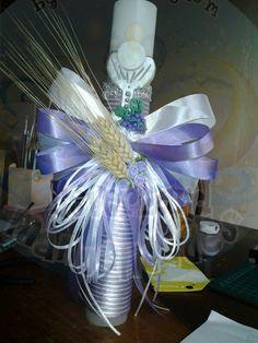 velas decoradas para bautizos comuniones by claudia vargas 25322653 / 87380837