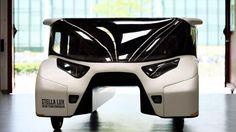 Stella Lux: A solar car, developed by students at Eindhoven University, which uses less electricity than it generates!   Studenten der Technischen Universität Eindhoven haben das Solarfahrzeug Stella Lux entwickelt, welches im Schnitt mehr Strom produziert als verbraucht. Quelle: Photo: TU Eindhoven, Bart van Overbeeke