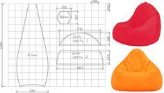 allpix.com / пуфик мешок своими руками выкройка - несколько разных вариантов
