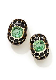 Kenneth Jay Lane Turtle Shell Earrings