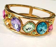 Vintage Multi Color Gemstone Estate Jewelry Bracelet  by WOWTHATSBEAUTIFUL