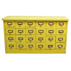 Hardware Cabinet Yellow furniture, yellow, aurora mills.....would LOVE this in a craft room