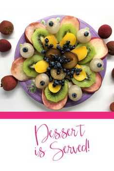🌿🌞🍃🍑WHAT'S FOR DESSERT? RAW, Organic Fresh Fruit Platter is what I'm Serving for Dessert! Wild Blueberries🍇Peaches🍑Lychee Fruit🍎Kiwi🥝YUM! So sweet - Love this time of year here in #toronto August = FRUIT! Lychee Fruit, Wild Blueberries, Raw Desserts, Love Is Sweet, Feeling Great, Peaches, Fresh Fruit, Platter, Fruit Salad