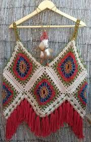 Resultado de imagen para musculosas crochet boho