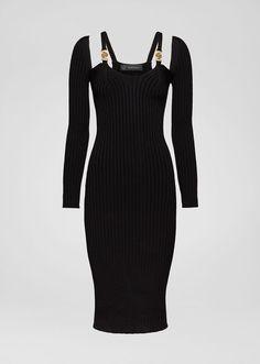 Gucci Dress, Versace Dress, Gucci Outfits, Kpop Outfits, Mode Outfits, Casual Dresses, Fashion Dresses, Dresses Dresses, Ribbed Knit Dress