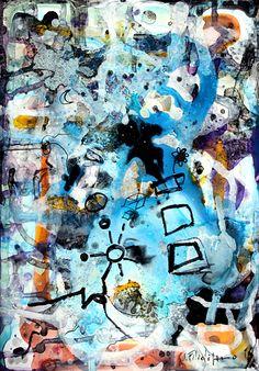 Dipinto astratto originale su carta fotografica - quadro fatto a mano arte pittura arredamento di SaverioFilioliArt su Etsy