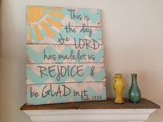 This is the Day pallet sign by NCRDesign on Etsy, $45.00