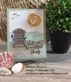 Michele's Craft Corner: Stampin' Up! Seasonal Layers thinlits dies.  Life is a beautiful thing - Video Tutorial featuring the Seasonal Layers Thinlits Dies (item # 143751 out of the new 2017-2019 Stampin' Up! catalog).