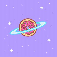 New trending GIF on Giphy. cute kawaii donut saturn. Follow Me CooliPhone6Case on Twitter Facebook Google Instagram LinkedIn Blogger Tumblr Youtube