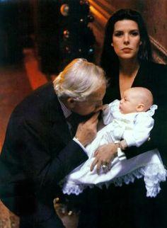 Prince Rainier, Princess Caroline, and Prince Pierre