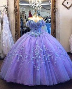 Light Blue Quinceanera Dresses, Plus Prom Dresses, Quince Dresses, Lace Evening Dresses, Prom Dreses, Quinceanera Party, Color Lila Pastel, Princess Ball Gowns, Princess Dresses