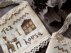 Tea Time - The Little Stitcher - PDF Digital Cross Stitch Pattern - New photos! <3