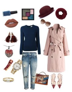"""Fall casual"" by wendy-stockton on Polyvore featuring Chicwish, Sam Edelman, Kate Spade, Louis Vuitton, Henri Bendel, Vintage, Tom Ford, Lord & Taylor, Rolex and Tory Burch"
