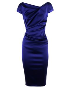 Cobalt Dress. I would accessorize the hell out of this dress!