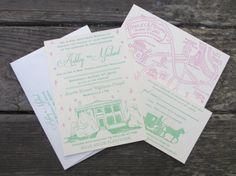 Letterpress Wedding Invitations  Nashville by SeasidePress on Etsy, $4.00