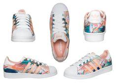 Adidas Superstar sneakers: Flower power Spring 2015 Love mine!