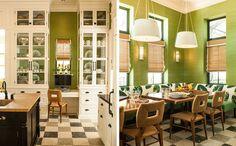 Inside a University President's Tropical Miami Home Art Deco Decor, Miami Houses, Kitchen Renovation, Home, Green Kitchen, Furniture Design, Deco Decor, Kitchen Makeover, Kitchen Inspirations