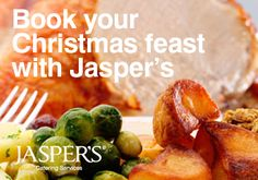 Book your traditional hot Christmas dinner for you and your colleagues with Jasper's catering www.jaspersonline.co.uk