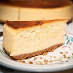 Chantals New York Cheesecake // I made this for my husband's birthday, and it came out perfectly!
