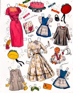 Betty Hutton and her girls paper doll clothes / eBay