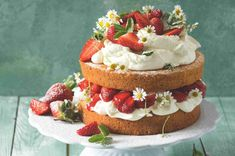 halfbakedharvestcom strawberry chamomile recipes spring easter naked cake Strawberry Chamomile Naked Cake You can find Birthday cake and more on our website Birthday Cakes For Men, Diy Birthday Cake, Homemade Birthday Cakes, Happy Birthday, 16th Birthday, Homemade Cakes, Strawberry Cakes, Strawberry Recipes, Strawberry Wedding