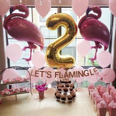 Veronika's Blushing: Harper's Second Birthday Party: Let's Flamingle!