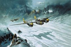 Through the Pass by Heinz Krebs  After combat with Luftwaffe fighters over southern Germany, a pair of 82nd FG P-38s return to their bases s...