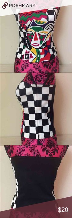 Jester corset top Cool jester crop top UNIF Tops