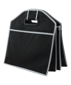 Keep your car organized with this convenient bag that features a durable design, a large cooler compartment and multiple pockets.