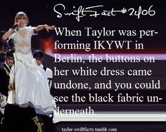 And she gracefully kept performing like nothing was going wrong. The show most go on!!!!- KMI