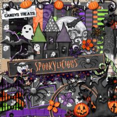 An old PTU KIT now that I am releasing as a freebie called Spookylicious and yup you guessed it, its Halloween themed :)