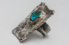Handmade silver ring with turquoise. Silver Jewellery, Jewelery, Silver Rings Handmade, Brooch, Turquoise, Design, Jewlery, Jewels, Jewerly