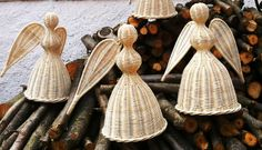 Angels and Boženky… after-knitting angels – Modern basketry – Amy Eavou – weberei Fun Crafts, Diy And Crafts, Paper Crafts, The White Company, Corn Husk Dolls, Paper Basket, Paper Goods, Basket Weaving, Wicker