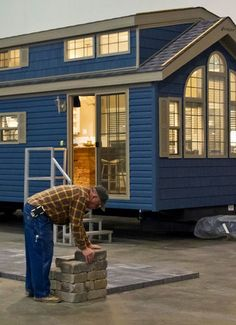 On wheels. This is the most perfect tiny house I have seen!!!