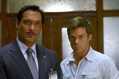 Miguel Prado & Dexter Morgan Season 3  Jimmy Smitts and Michael C. Hall